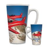 Full Color Latte Mug 17oz-PC-21 2 Aircrafts Over Snow Cliffs