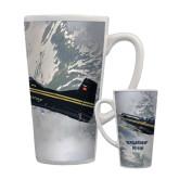Full Color Latte Mug 17oz-PC-9 M Over Mtn Terrain