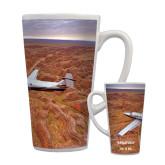 Full Color Latte Mug 17oz-PC-12 NG Over Brown Fold Mtns