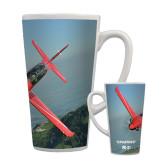 Full Color Latte Mug 17oz-PC-21 Mountain Shore
