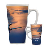 Full Color Latte Mug 17oz-PC-24 Sunset On Clouds