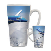 Full Color Latte Mug 17oz-PC-24 Over Snowy Mtns