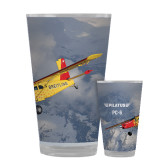 Full Color Glass 17oz-PC-6 Over Snowy Mountains