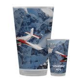 Full Color Glass 17oz-PC-6 Over Snowy Cliff