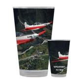 Full Color Glass 17oz-PC-7 MKII 2 Aircrafts Over Green Terrain