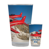 Full Color Glass 17oz-PC-21 2 Aircrafts Over Snow Cliffs