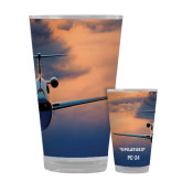 Full Color Glass 17oz-PC-24 Sunset On Clouds