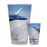Full Color Glass 17oz-PC-24 Over Snowy Mtns