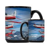 Full Color Black Mug 15oz-PC-7 MKII 3 Aircrafts