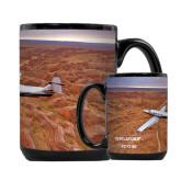 Full Color Black Mug 15oz-PC-12 NG Over Brown Fold Mtns