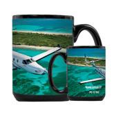 Full Color Black Mug 15oz-PC-12 NG Island Shore