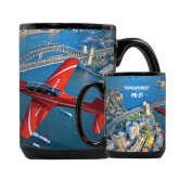 Full Color Black Mug 15oz-PC-21 City Bridge View