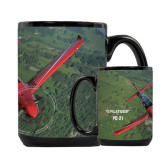 Full Color Black Mug 15oz-PC-21 Green Terrain