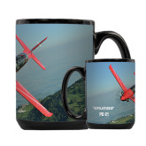 Full Color Black Mug 15oz-PC-21 Mountain Shore