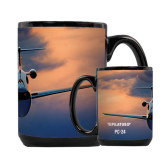 Full Color Black Mug 15oz-PC-24 Sunset On Clouds