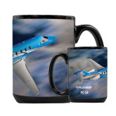 Full Color Black Mug 15oz-PC-24 On Top of Clouds