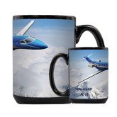 Full Color Black Mug 15oz-PC-24 Over Snowy Mtns