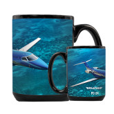 Full Color Black Mug 15oz-PC-24 Ocean View