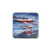 Hardboard Coaster w/Cork Backing-PC-7 MKII 3 Aircrafts