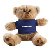 Plush Big Paw 8 1/2 inch Brown Bear w/Navy Shirt-