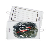 Luggage Tag-PC-7 MKII 2 Aircrafts Over Green Terrain