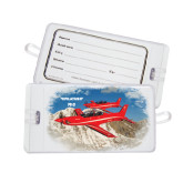 Luggage Tag-PC-21 2 Aircrafts Over Snow Cliffs
