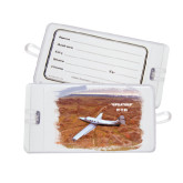 Luggage Tag-PC-12 NG Over Brown Fold Mtns