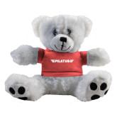 Plush Big Paw 8 1/2 inch White Bear w/Pink Shirt-