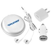 3 in 1 White Audio Travel Kit-