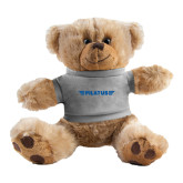 Plush Big Paw 8 1/2 inch Brown Bear w/Grey Shirt-Pilatus