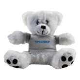 Plush Big Paw 8 1/2 inch White Bear w/Grey Shirt-Pilatus