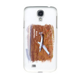 White Samsung Galaxy S4 Cover-PC-12 NG Over Brown Fold Mtns