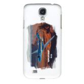 White Samsung Galaxy S4 Cover-PC-24 Rough Block Mtns