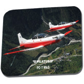Full Color Mousepad-PC-7 MKII 2 Aircrafts Over Green Terrain