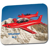 Full Color Mousepad-PC-21 2 Aircrafts Over Snow Cliffs