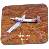 Full Color Mousepad-PC-12 NG Over Brown Fold Mtns