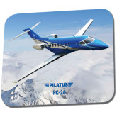 Full Color Mousepad-PC-24 Over Snowy Mtns