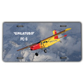 License Plate-PC-6 Over Snowy Mountains