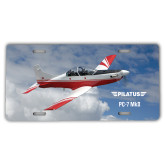 License Plate-PC-7 MKII Over Clouds