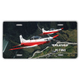 License Plate-PC-7 MKII 2 Aircrafts Over Green Terrain