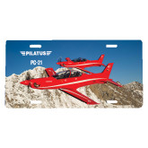 License Plate-PC-21 2 Aircrafts Over Snow Cliffs