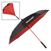 48 Inch Auto Open Black/Red Inversion Umbrella-