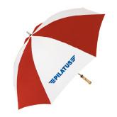 62 Inch Red/White Vented Umbrella-Pilatus