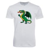 Next Level SoftStyle White T Shirt-Secondary Mark