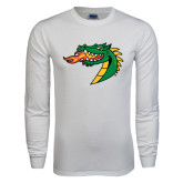 White Long Sleeve T Shirt-Dragon Head