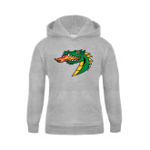 Youth Grey Fleece Hood-Dragon Head