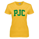 Ladies Gold T Shirt-PJC