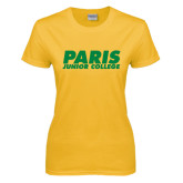 Ladies Gold T Shirt-Paris Junior College