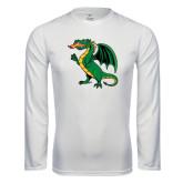 Performance White Longsleeve Shirt-Secondary Mark