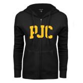 ENZA Ladies Black Fleece Full Zip Hoodie-PJC